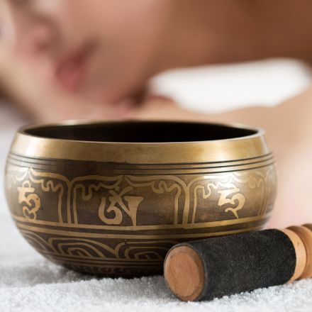 Sound massage with tibetan singing bowls